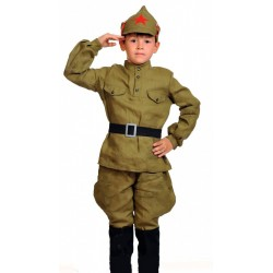 Военный костюм для мальчика Красноармеец