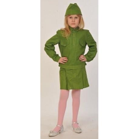 Военный костюм для девочки Солдаточка